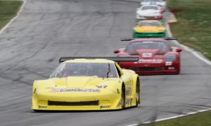 Doug Peterson leads the Trans-Am field during Saturday's 100 Miles of Luna-C at Road Atlanta. (Chris Clark Photo)