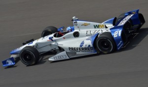 J.R Hildebrand on track at Indianapolis Motor Speedway this week. (IndyCar Photo)