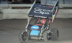 Daryn Pittman, shown Sunday at Orange County Fair Speedway, earned his fourth straight World of Outlaws STP Sprint Car Series victory Tuesday at New Egypt (N.J.) Speedway. (John Dadalt photo)