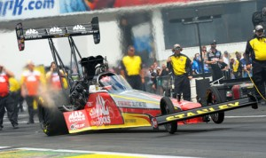 Doug Kalitta topped the charts in the NHRA Top Fuel division Saturday at Old Bridge Township Raceway Park. (Harry Cella Photo)