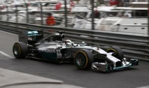 Lewis Hamilton turned the fastest lap during practice for the Monaco Grand Prix on Thursday. (Mercedes Photo)