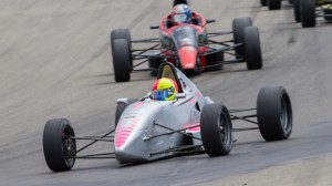 Jim Goughary took the lead on the final lap and won Saturday's F1600 race at Watkins Glen (N.Y.) Int'l. (SCCA photo)