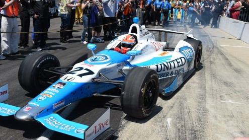 James Hinchcliffe qualified second for the May 25 Indianapolis 500. (Al Steinberg photo)