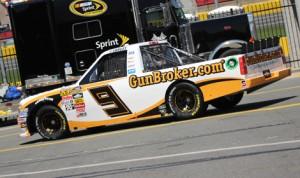 Justin Lofton's No. 9 GunBroker.com Chevrolet Friday at Charlotte Motor Speedway. (Adam Fenwick Photo)