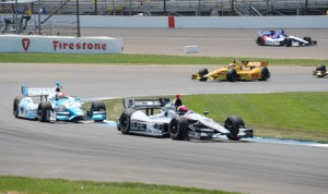 Verizon IndyCar Series drivers hit Indianapolis Motor Speedway's road course for practice Thursday. (IndyCar Photo)
