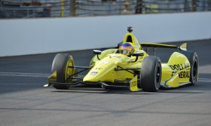 1995 Indianapolis 500 champion Jacques Villeneuve made his return to the race with Schmidt Peterson Motorsports on Sunday. On Wednesday, his team was fined 10 points for violating engine change rules. (John Cote/IndyCar photo)