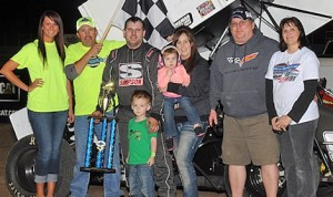 Jeff Stasa in victory lane Saturday at Longdale Speedway. (NCRA photo)