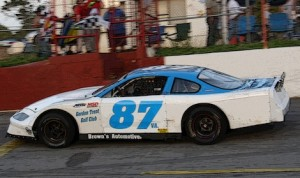 Mike Loony won Monday's late model feature at Virginia's Franklin County Speedway.