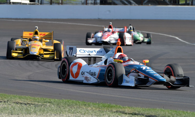 The Schmidt-Peterson Motorsports team was among those fined by IndyCar today. (Dave Heithaus Photo)