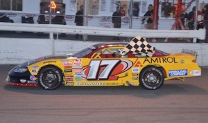 Ray Parent won Saturday's ACT late model race at Airborne Speedway. (Eric LeFleche photo)