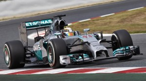 Lewis Hamilton dominated Sunday's Spanish Grand Prix for his fourth Formula One victory in a row. (Daimler photo)