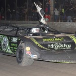 Scott Bloomquist won Friday's Lucas Oil Late Model Dirt Series event at Tri-City Speedway. (Don Figler Photo)