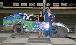 Scott Brown topped the IMCA modified feature at Dodge City Raceway Park Saturday night. (The Wheatley Collection Photo)