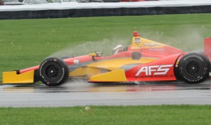 Sebastian Saavedra on track during qualifying Friday for the Grand Prix of Indianapolis. (Don Figler Photo)