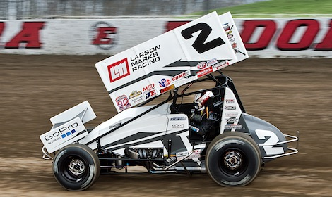 Shane Stewart won Friday's World of Outlaws STP Sprint Car Series feature at Eldora Speedway. (Mike Campbell photo)