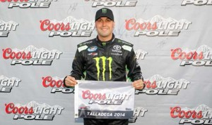 Sam Hornish Jr. will start on the pole for Saturday's Aaron's 312 at Talladega (Ala.) Superspeedway. (NASCAR Photo)