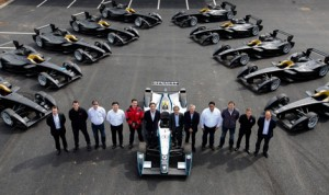 The first 10 Spark-Renault SRT_01E Formula E cars arrived this month at the championship's new operational headquarters and team facilities at Donington Park. (Formula E Photo)