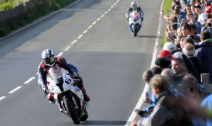 Michael Dunlop (6) has the fastest lap on the Isle of Man course so far. (IOM TT Photo)