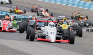 Tim Minor (88) on his way to victory in Sunday's F2000 Championship event at Watkins Glen (N.Y.) Int'l. (F2000 Photo)