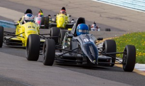 Mikhail Goikhberg leads the pack during Sunday's F1600 Formula F Championship Series race at Watkins Glen (N.Y.) Int'l. (F1600 Photo)