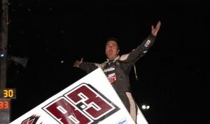David Gravel won Friday's World of Outlaws Sprint Car Series race at Wilmot Raceway. (Mark Funderburk photo)