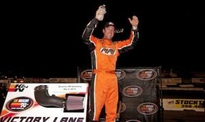 David Mayhew won Saturday night's NASCAR K&N Pro Series race at Stockton 99 Speedway. (NASCAR photo)