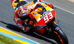 Marc Marquez earned his fifth-straight MotoGP pole Saturday in France. (MotoGP Photo)