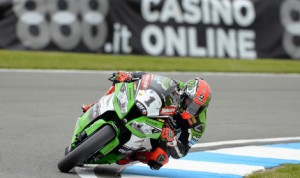 Tom Sykes topped the charts in World Superbike practice Friday at Donington Park. (World Superbike Photo)