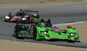 Ed Brown and Johannes van Overbeek scored the first victory for Extreme Speed Motorsports in TUDOR United SportsCar Championship competition Sunday at Mazda Raceway Laguna Seca. (Richard Dole/LAT Photo)