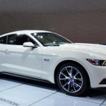 The 50th Anniversary Mustang in Wimbledon White. Only 1,964 of these special edition cars will be produced. (Ralph Sheheen Photo)