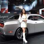 The 2015 Dodge Challenger 392 Hemi Scat Pack with a Shaker Hood in Billet Silver. (Ralph Sheheen Photo)