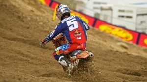 Ryan Dungey kicked off his 2014 title chase in a favorable position out front. (Christian Munoz photo)