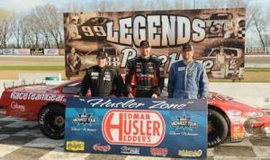 Nathan Haseleu (center), Kyle Shear (left) and Skylar Holzhausen made up the podium of Sunday's Joe Shear Classic. (Doug Hornickel Photo)