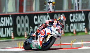 Jonathan Rea had the fastest lap in World Superbike practice in Italy on Friday. (World Superbike Photo)