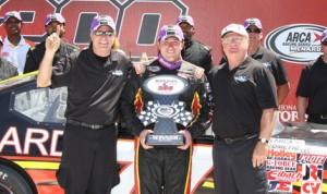 Tom Hessert ended Grant Enfinger's ARCA Racing Series winning streak with a victory Saturday at Talladega (Ala.) Superspeedway. (ARCA Racing Series Photo)