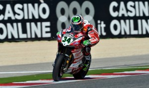 Davide Giugliano was the fastest overall rider during World Superbike practice in Italy Friday. (World Superbike Photo)