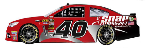 Snap Fitness will sponsor the No. 40 Hillman Racing Chevrolet SS driven by Landon Cassill in four NASCAR Sprint Cup Series events. (Hillman Racing Image)