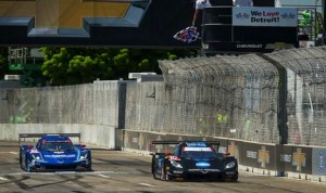 Ricky and Jordan Taylor race to victory in Saturday's TUDOR United SportsCar Championship Chevrolet Sports Car Classic on Belle Isle in Detroit, Michigan. (Photo by Richard Prince for Chevy Racing)