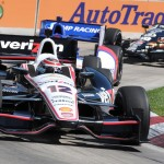 Will Power leads a pack during Sunday's Verizon IndyCar Series race at Belle Isle Park. (Frank Smith Photo)