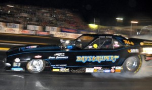 Jason Rupert was fastest in IHRA Funny Car qualifying and also claimed his first-round match Saturday in Grand Bend, Ontario. (IHRA Photo)