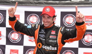 Simon Pagenaud has earned the pole for Saturday's Verizon IndyCar Series event at NRG Park in Houston, Texas. (Al Steinberg Photo)