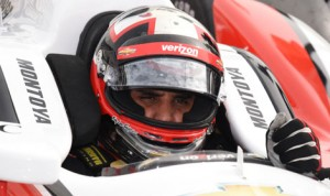 Juan Pablo Montoya finished third in Saturday's Verizon IndyCar Series Firestone 600, his best finish since returning to open-wheel racing this year. (Al Steinberg Photo)