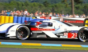 The No. 2 Audi is Jim Roller's pick to win the 24 Hours of Le Mans. (Pete Richards photo)