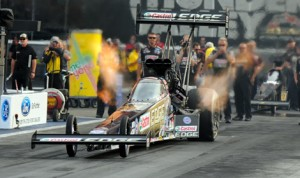 Brittany Force led the NHRA Top Fuel field during qualifying at Bristol (Tenn.) Dragway last weekend. (Mike Gbur Photo)