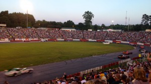 Fans come out in droves when the Modifieds race at Bowman Gray Stadium, a converted football stadium in Winston-Salem, N.C. (Aaron Burns photo)