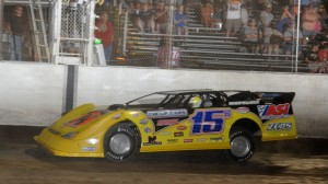 Brian Birkhofer scored the win in Saturday's DIRTcar event at I-55. (Don Figler photo)