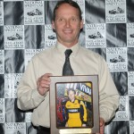 Dave Blaney entered the National Sprint Car Hall of Fame Saturday night in Knoxville, Iowa. (Conrad Nelson Photo)