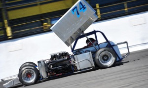 Rob Summers finished second at Oswego Speedway on June 7 in ISMA Supermodified competition and is now a guaranteed starter for the Budweiser International Classic 200 at Oswego on Sunday, Aug. 31.  (Bill Taylor Photo)