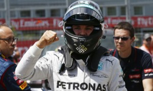 Nico Rosberg's dream season kept rolling on Saturday. (Mercedes F-1 Photo)