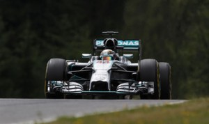 Lewis Hamilton had the fastest time of the day during Formula One practice in Germany. (Mercedes Photo)